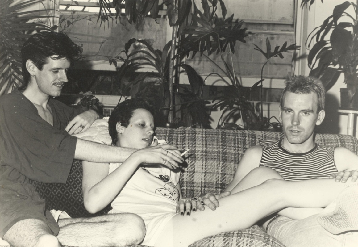 Phil Shoenfelt, Kelly and Rigger @ Webster Smith's flat, NYC 1979